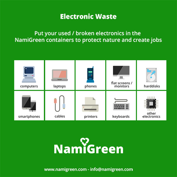 E-waste types, e-waste categories